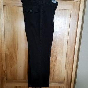 NO BOUNDARIES STRETCH JR SZ 3 BLACK CAPRI PANTS